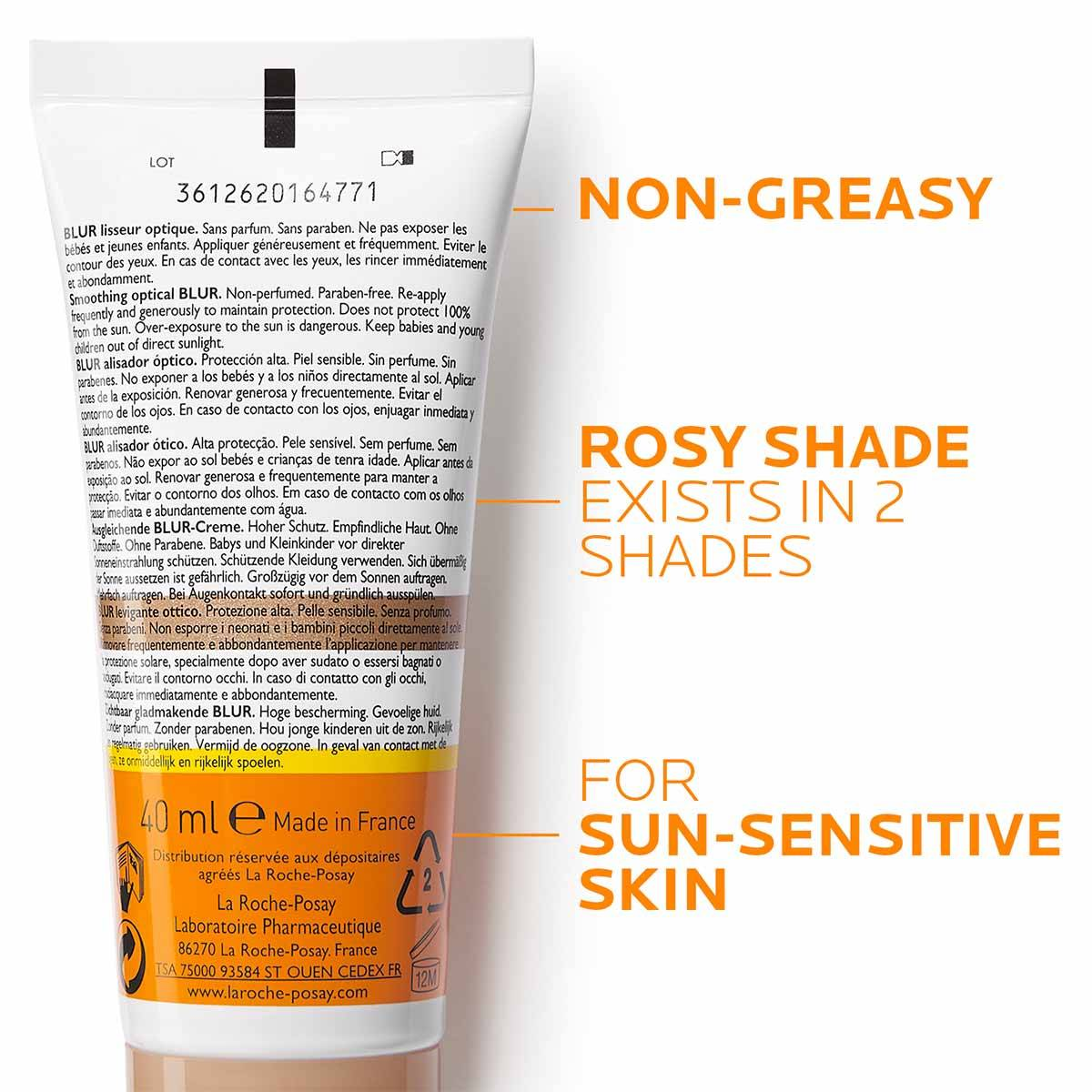 La Roche Posay ProductPage Sun Anthelios Smoothing Blur Spf50 40ml 333